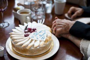 Gâteau anniversaire de l'Amour